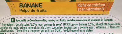 Kids - Banane- Pulpe de fruits - Ingrédients