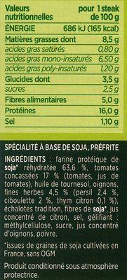 Steaks de soja fines herbes - 10