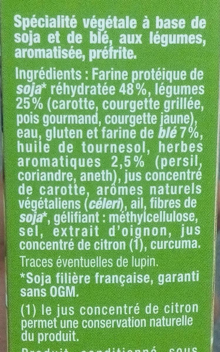 Steak de Soja Petits Légumes - Ingrédients - fr