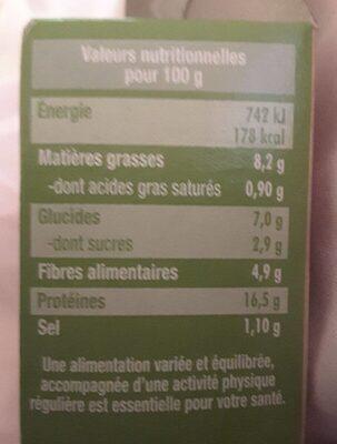Steak de Soja Petits Légumes - Informations nutritionnelles - fr