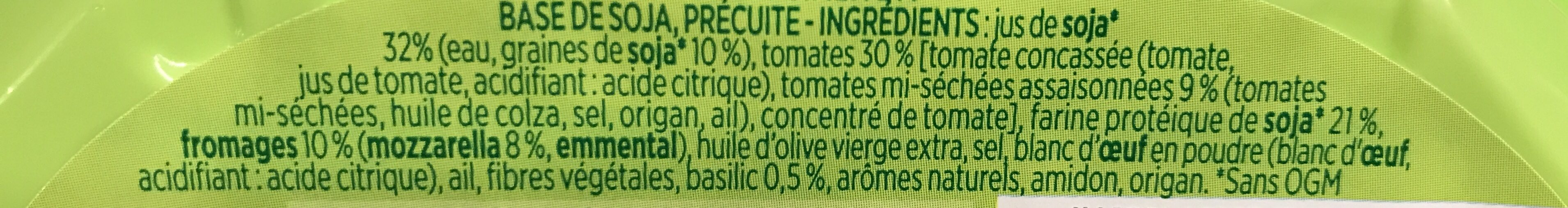 Steak de Soja Tomate Mozzarella - Ingrédients - fr