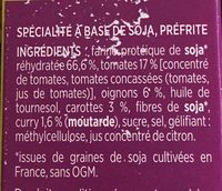 Steaks de Soja Curry - Ingredients