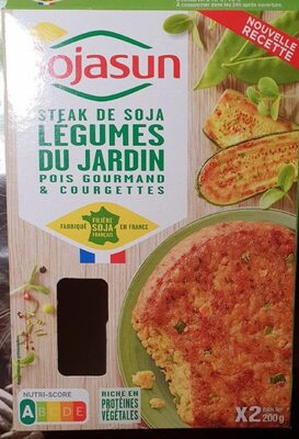 Steaks de Soja Légumes du Jardin pois gourmand et courgettes - Product - fr