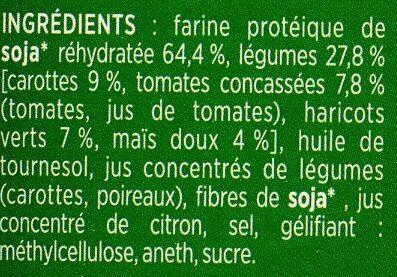 Steaks de Soja Légumes du Jardin pois gourmand et courgettes - Ingredients