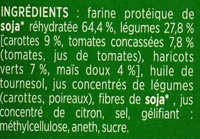 Steaks de Soja Légumes du Jardin pois gourmand et courgettes - Ingredients - fr
