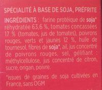 Steaks de Soja à la Méditerranéenne - Ingrédients