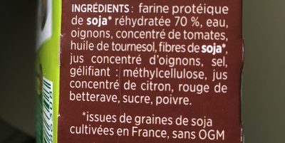 Hache végétal - Ingredients
