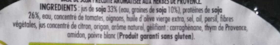 Boulettes végétales aux herbes - Ingrediënten