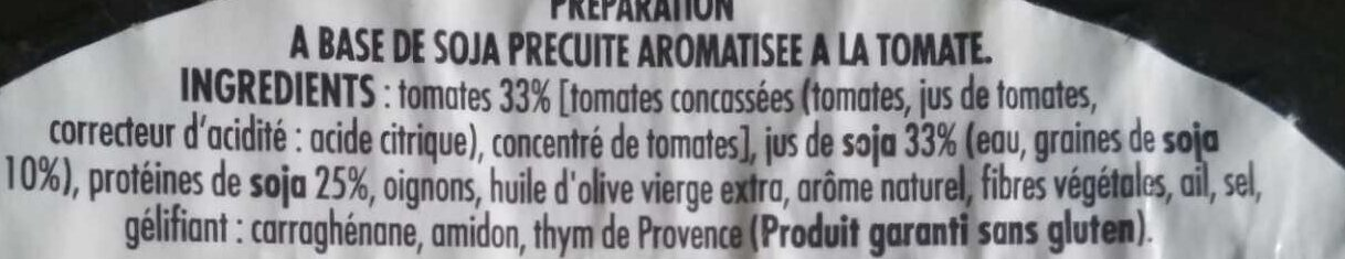 Boulettes végétales à la tomate - Ingredients - fr