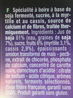 Go shake myrtille et cassis - Ingrédients