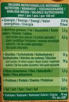 Go Shake Soja & Mangue - Información nutricional