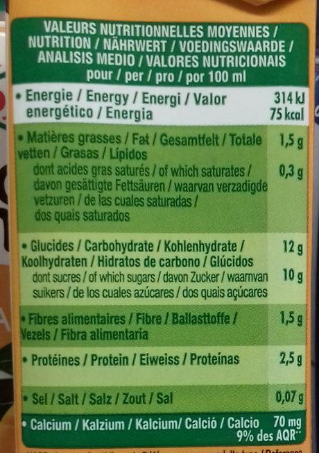Go Shake Soja & Mangue - Nutrition facts