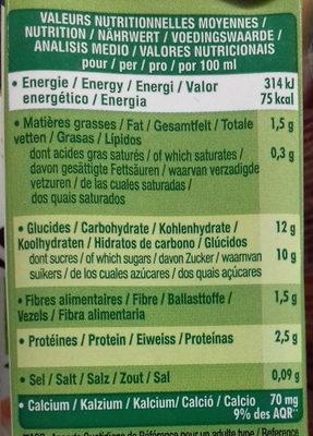 Go Shake Soja & Mandarine Citron Vert - Información nutricional