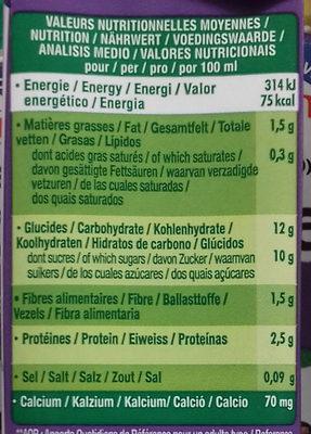 Go Shake Soja & Myrtille Cassis - Información nutricional