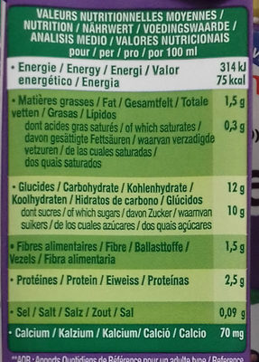 Go Shake Soja & Myrtille Cassis - Informació nutricional