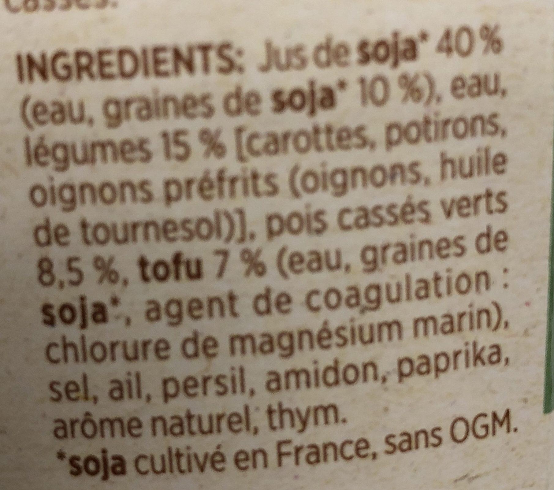 Repas Végétal Pois Cassés - Ingrédients - fr