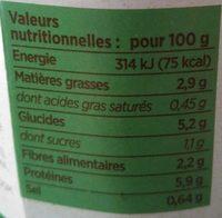Repas Végétal Pois Cassés - Informations nutritionnelles - fr
