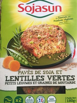 Pavé de soja et lentilles vertes - Produit - fr