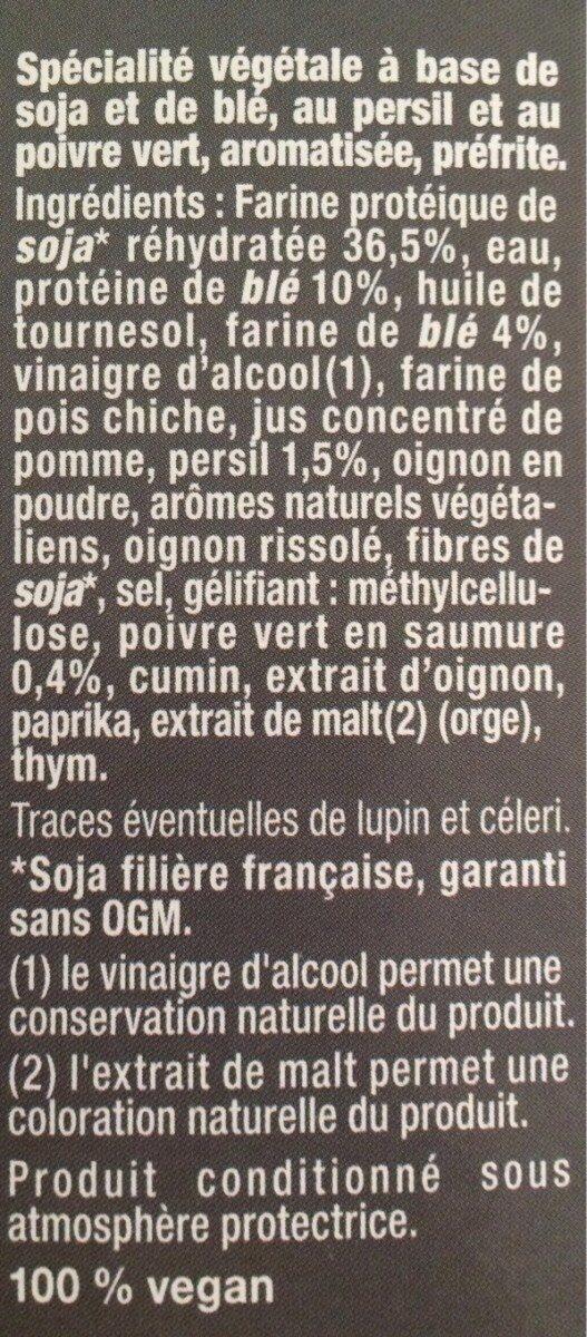 Galette végétale le Bistrot - Ingredients