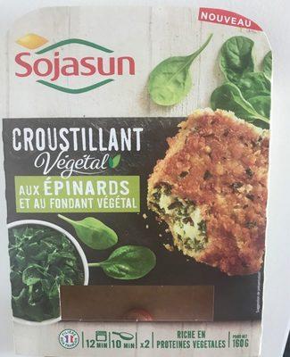 Croustillant vegetal aux epinards et au fondant vegetal - Produit