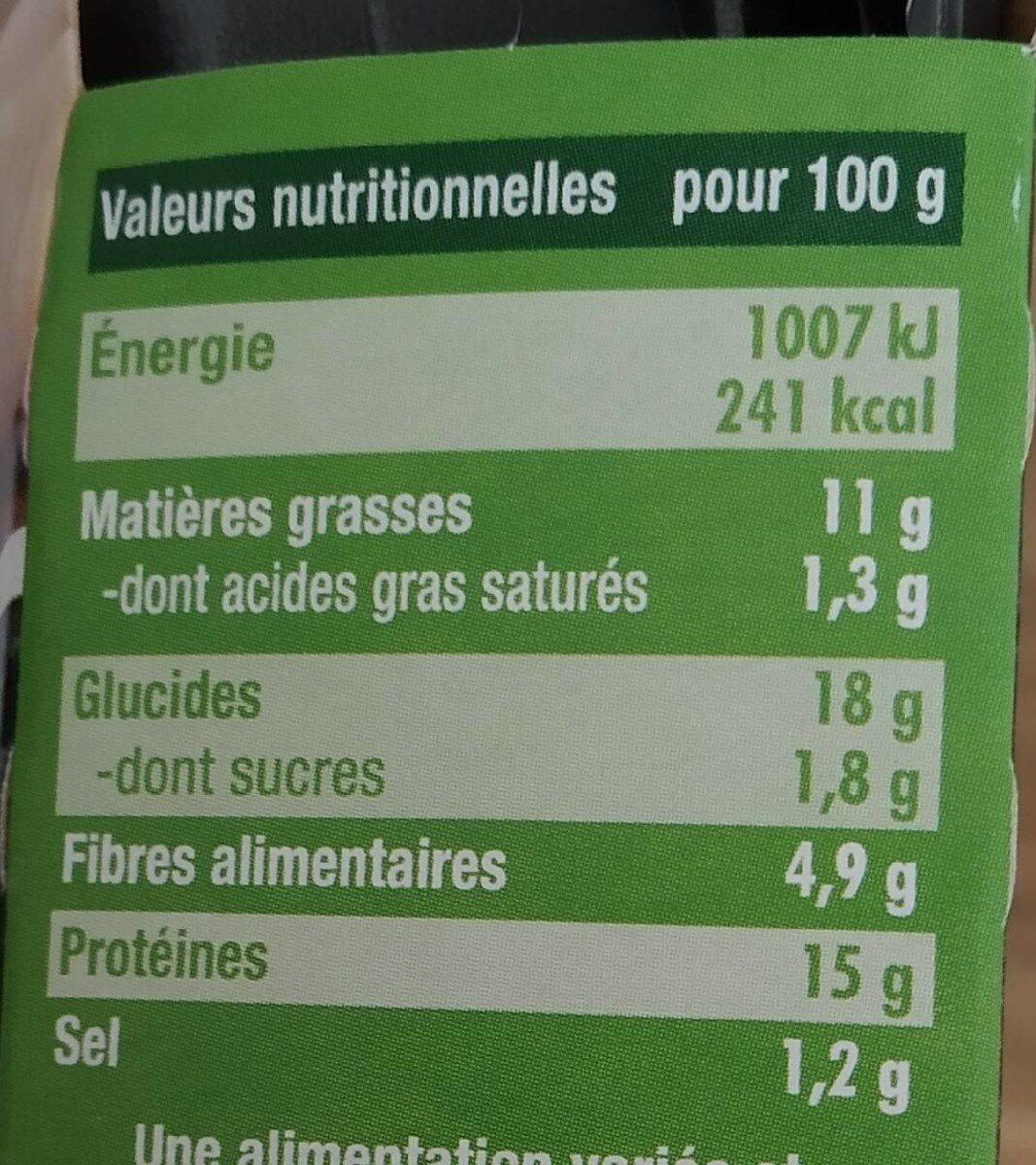 croustillant épinards et fondant végétal - Informations nutritionnelles - fr