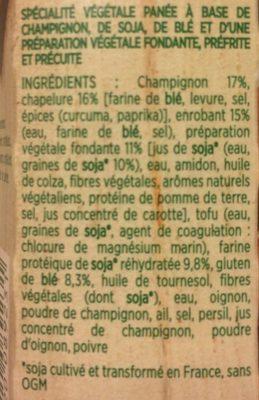 Croustillant Végétal aux champignons - Ingredients