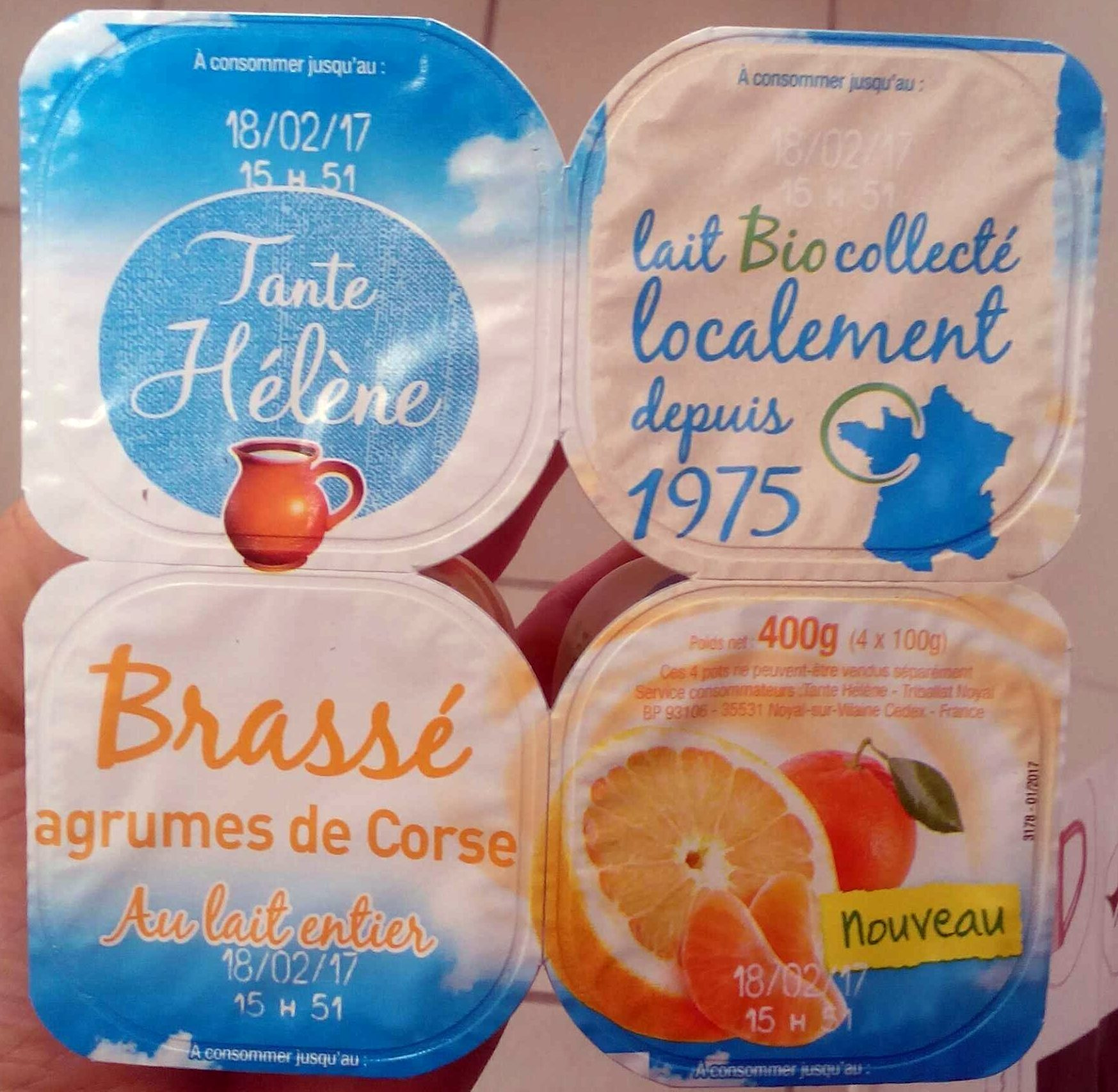 Brassé agrumes de Corse au lait entier - Produit