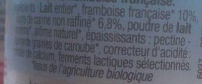 Brassé framboise Au lait entier - Ingrédients - fr