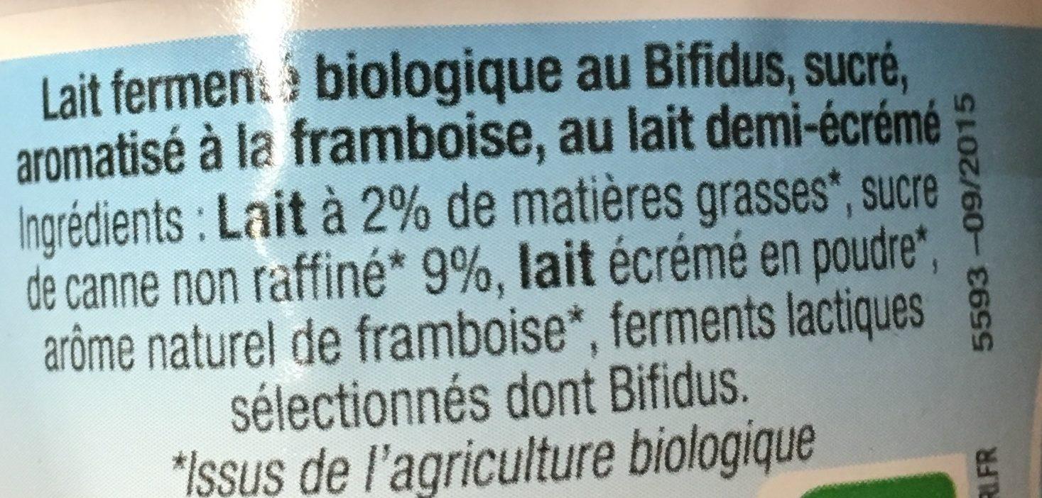 Yaourt Bifidus Framboise - Ingrédients - fr