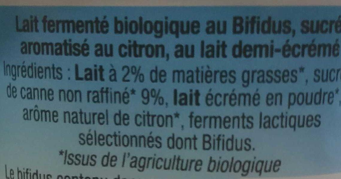 Bifidus, Saveur Citron - Ingredients - fr