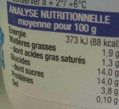 Bifidus, Saveur Citron - Nutrition facts - fr