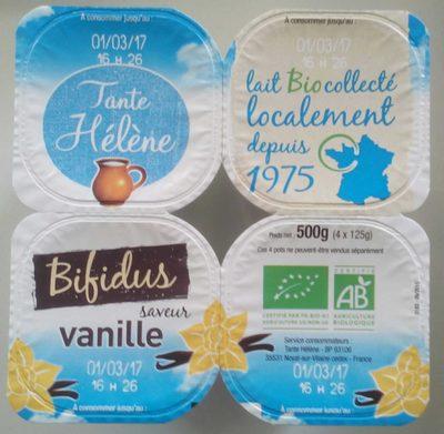 4 yaourts Bio vanille - Produit - fr