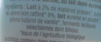 4 yaourts Bio vanille - Ingrédients - fr