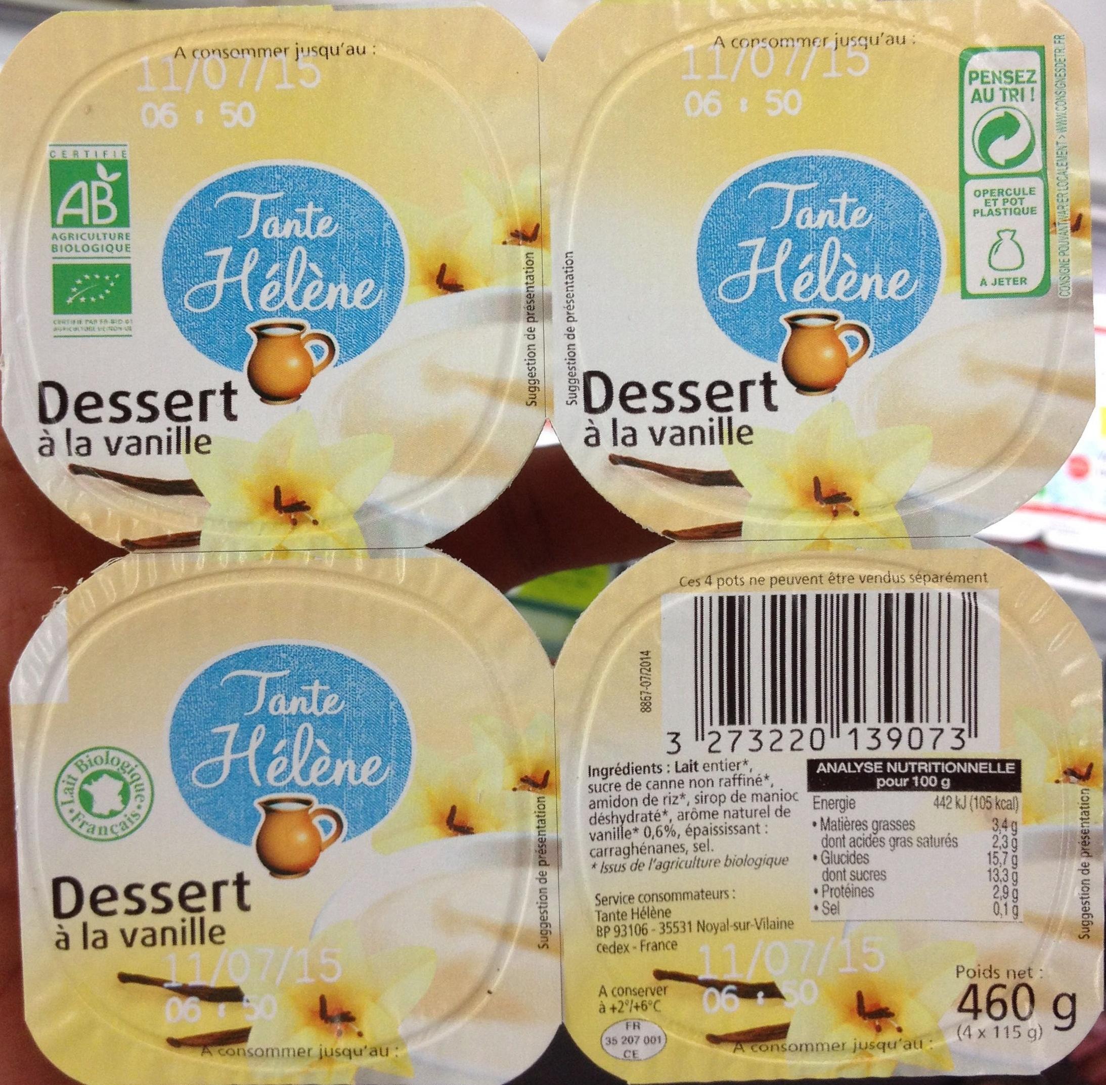 Dessert à la vanille - Produit - fr