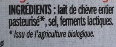 Petit chèvre - Ingrédients - fr
