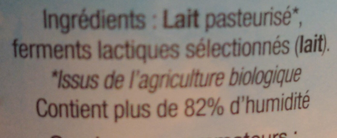 Fromage blanc Tante Hélène - Ingredients - fr