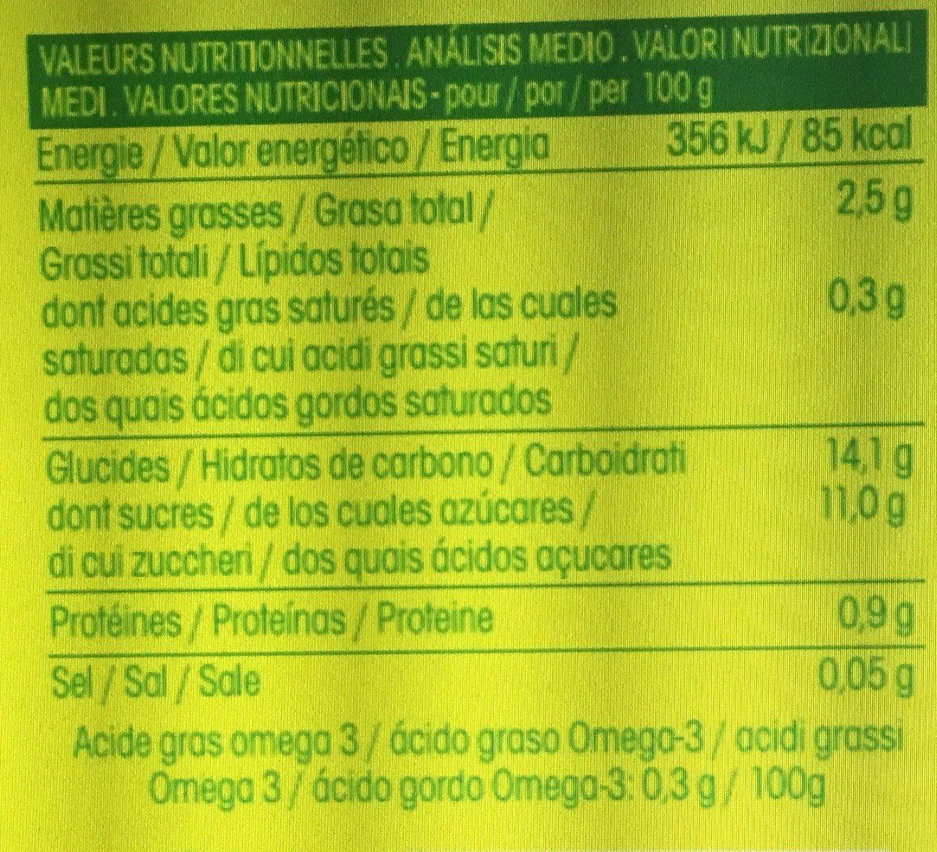 Délice de chanvre Framboise fraise - Informations nutritionnelles - fr