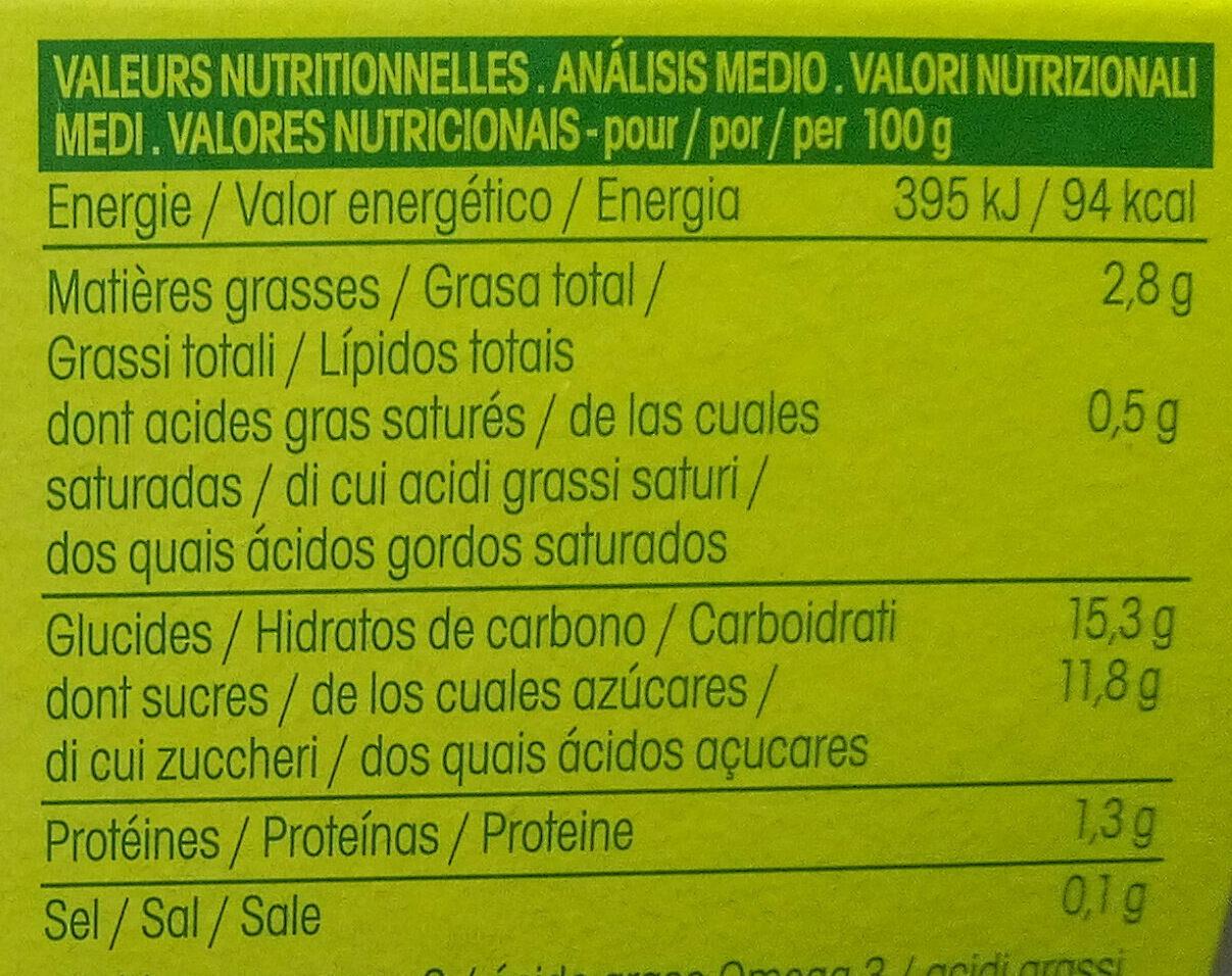 chanvre Chocolat - Informations nutritionnelles - fr