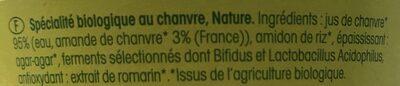 Delice De Chanvre - Ingredientes - fr