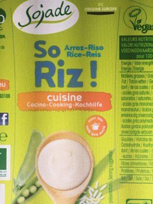 So riz - cuisine - Produit - fr