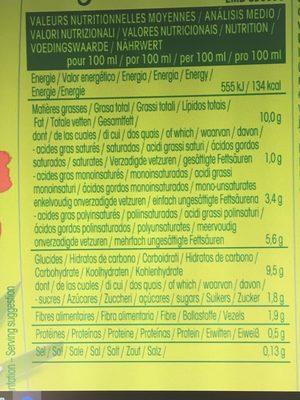 So riz - cuisine - Nutrition facts - fr