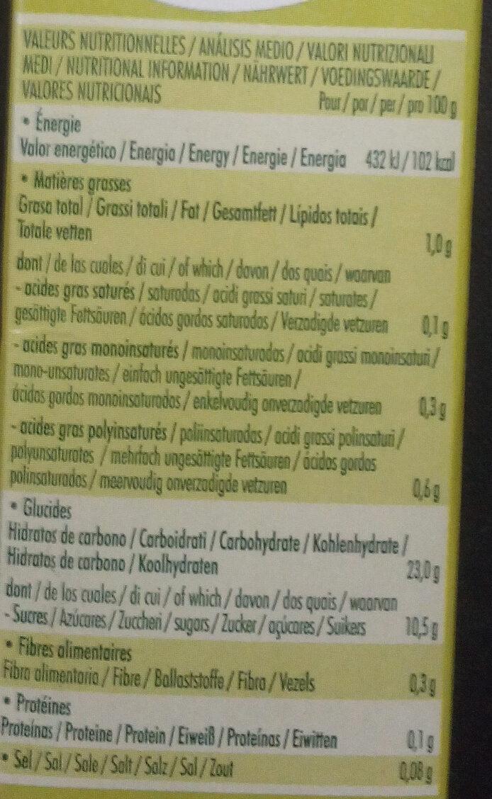 So Riz Caramel - Informations nutritionnelles - fr