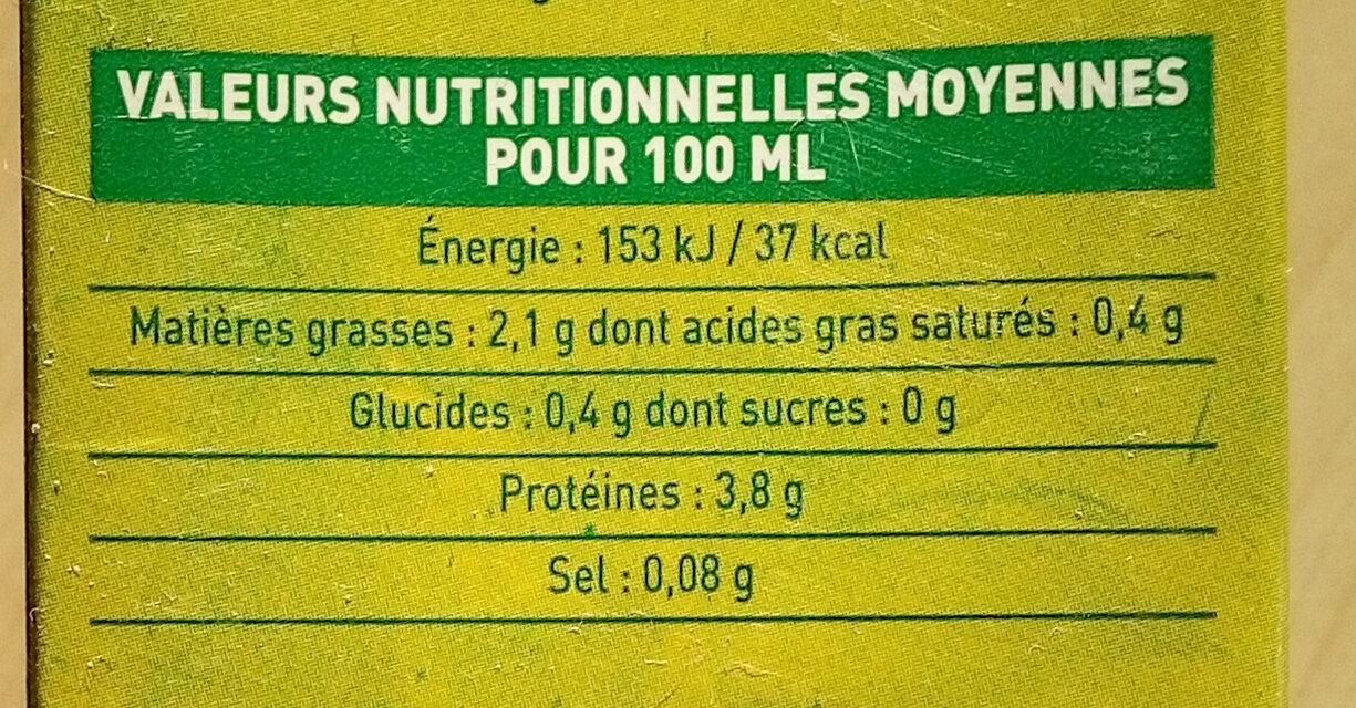 So soja Nature - Voedingswaarden - fr