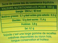 Sojade Ananas - Informations nutritionnelles - fr