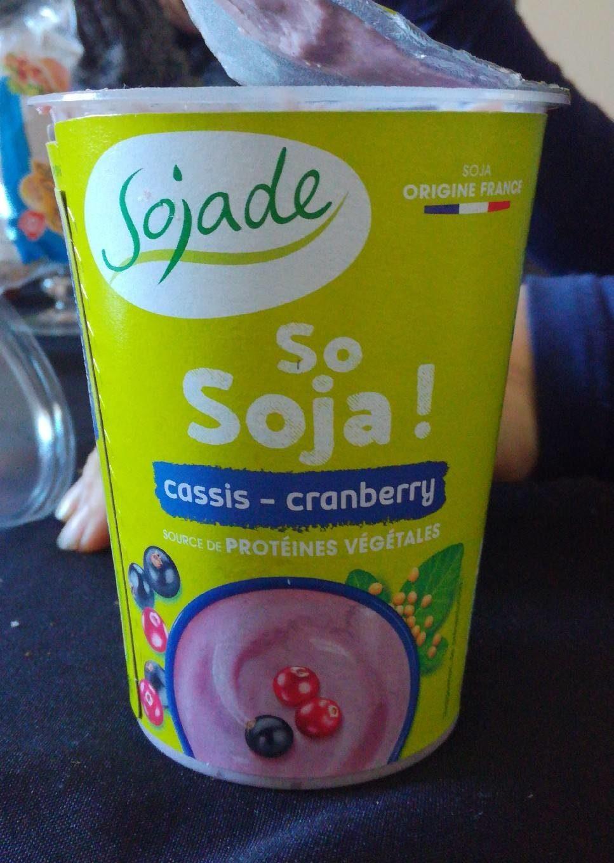 Sojade Cassis Cranberry Bio - Produit