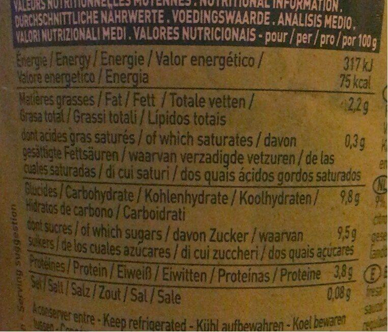 Spécialité au soja, Fraise - Informations nutritionnelles - fr