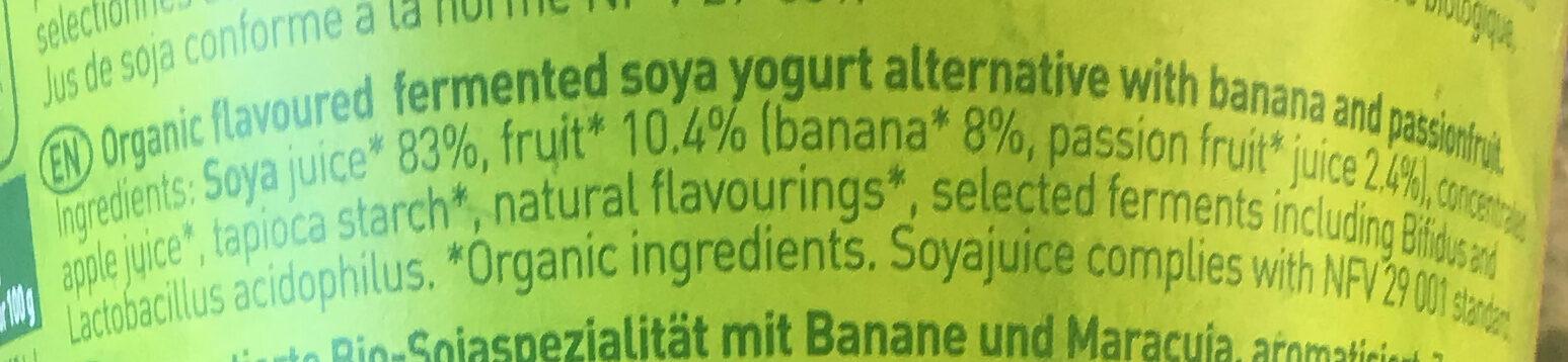 Si Soja - Ingredients - en