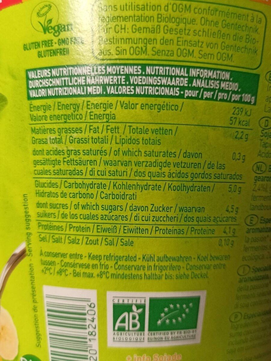 Si Soja - Nutrition facts - de