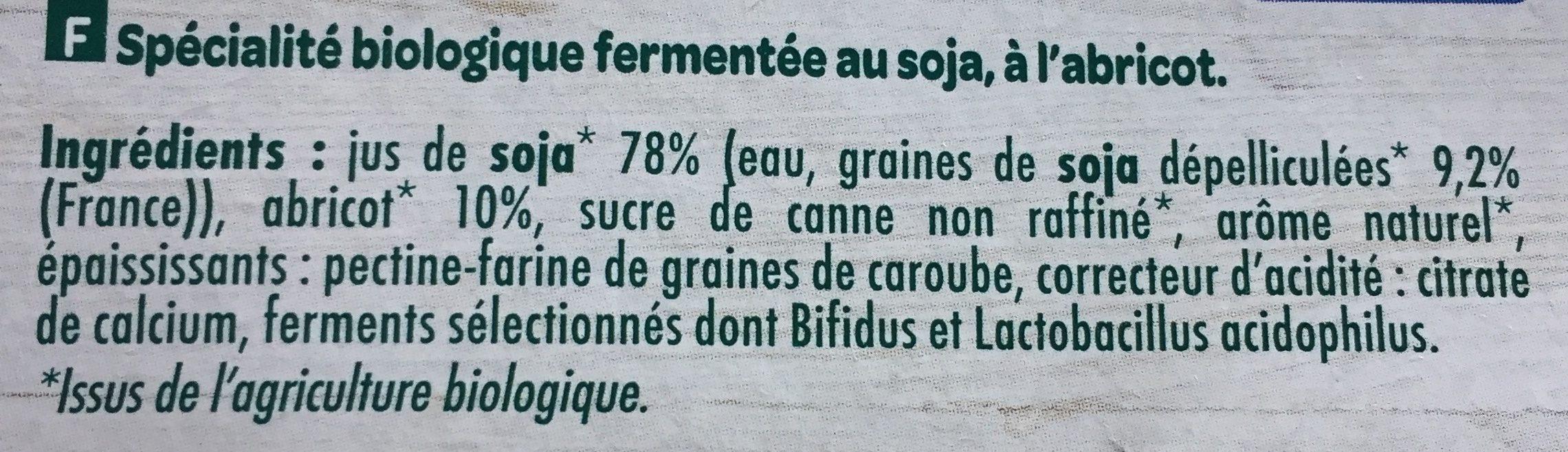 Soja bio dessert vanille - Ingredients