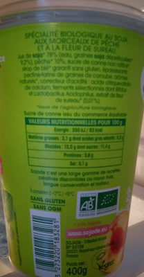 Spécialité au soja, Pêche Fleur de Sureau - Ingredients - fr